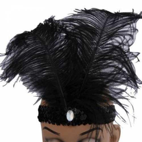 Glimmende hoofdband zwart