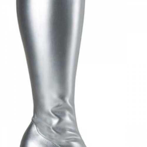 Glimmende zilveren dames laars