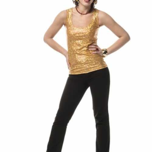 Goud holografisch shirt dames