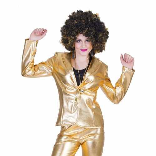 Gouden 70s disco verkleedkleding jasje dames