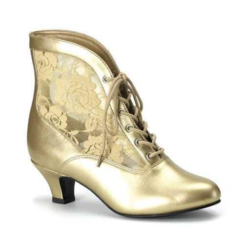 Gouden middeleeuwse muiltjes dames