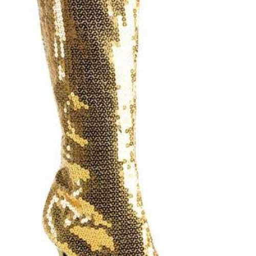 Gouden pailletten dames laarzen