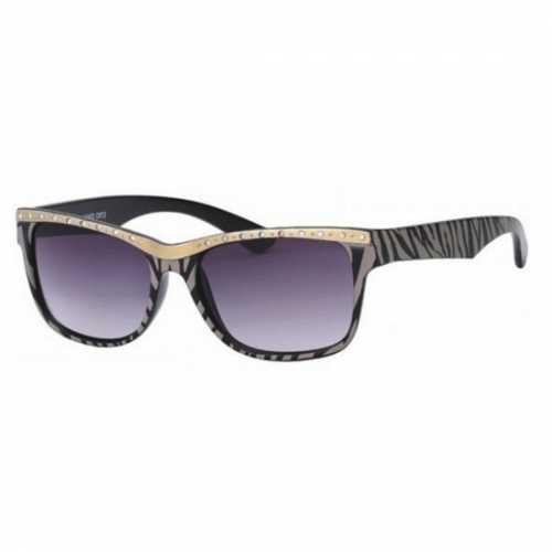 Grijs/zwarte zonnebril strepen