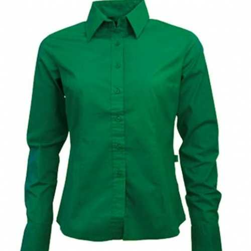 Groen ongsleeve overhemd dames