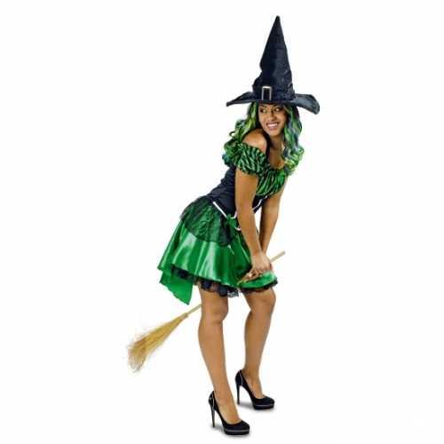 Groene heksenjurk korte rok