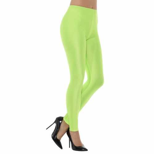 Groene spandex verkleed legging dames