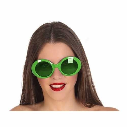 Grote groene ronde verkleed zonnebril