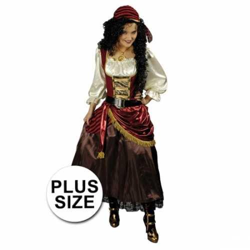 Grote maat piraten verkleedkleding dames