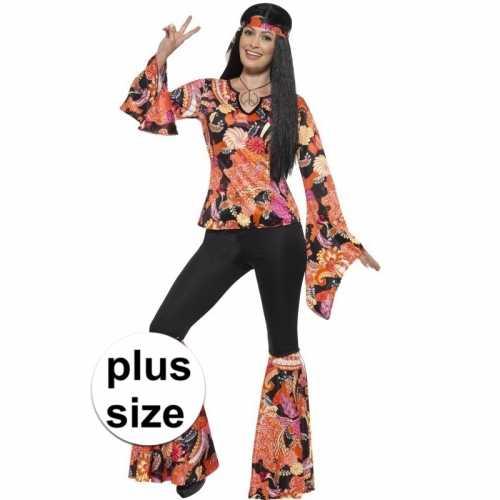 Grote maten hippie verkleedkleding willow dames