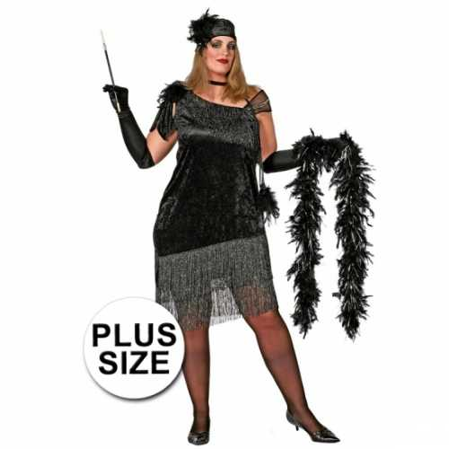Grote maten jaren 20 jurk dames