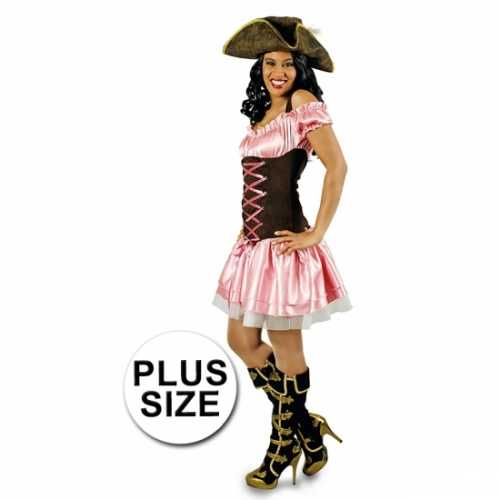 Grote maten piraten verkleedkleding dames