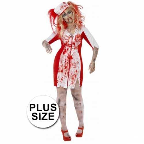 Grote maten zombie zuster verkleedkleding