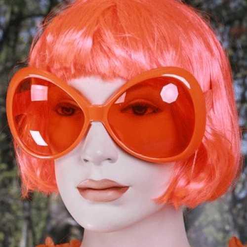Grote oranje zonnebrillen dames