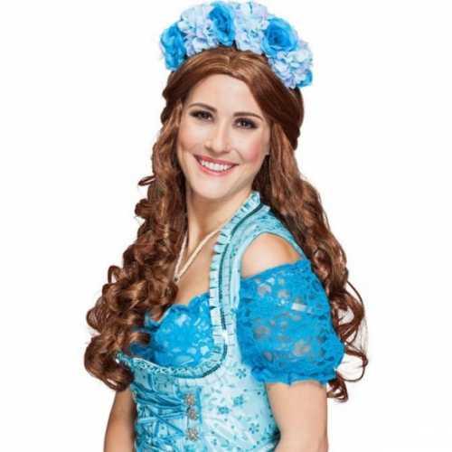 Haarband blauwe bloemen