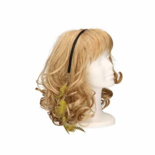 Haarband gele veertjes