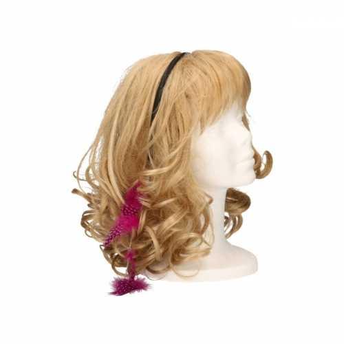 Haarband roze veertjes
