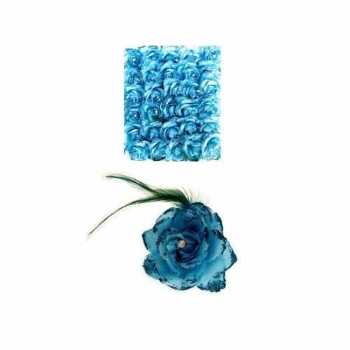 Haarbloem blauw elastiek