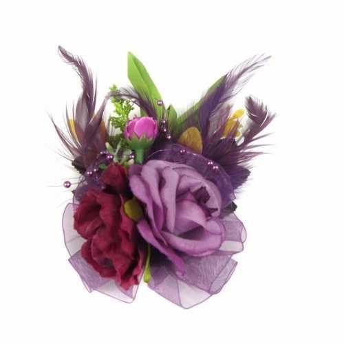 Haarbloemen klem paars