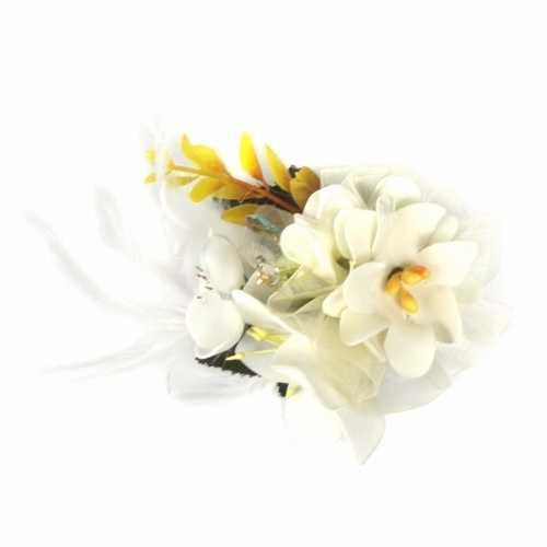 Haarbloemen klem wit