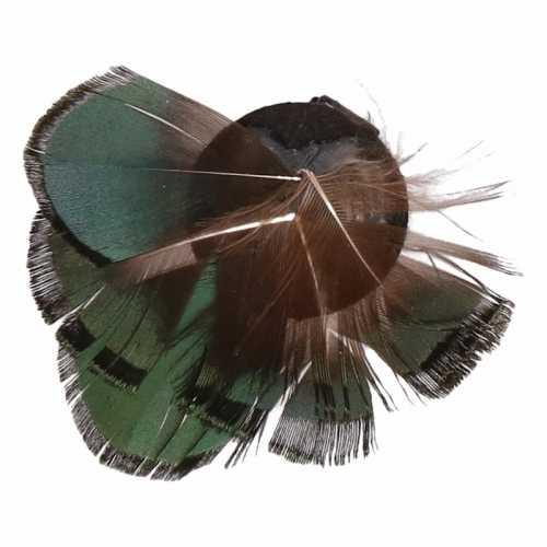 Haarveertjes klem groen