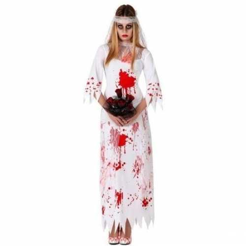 Halloween dode bruid verkleedkleding dames