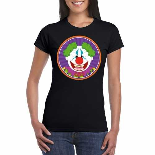 Halloween horror clown t shirt zwart dames