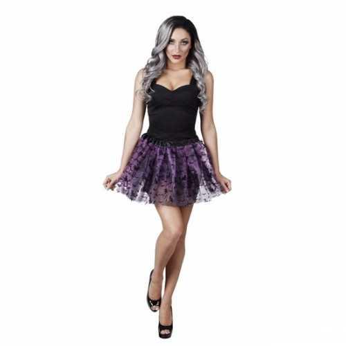 Halloween kleding damesrok vleermuizen