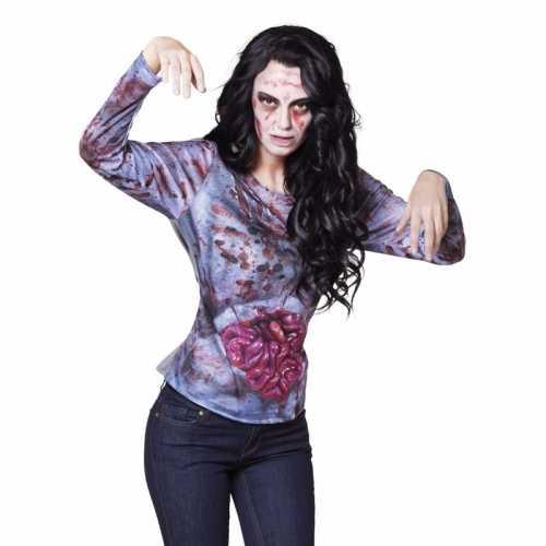 Halloween zombie shirt ingewanden