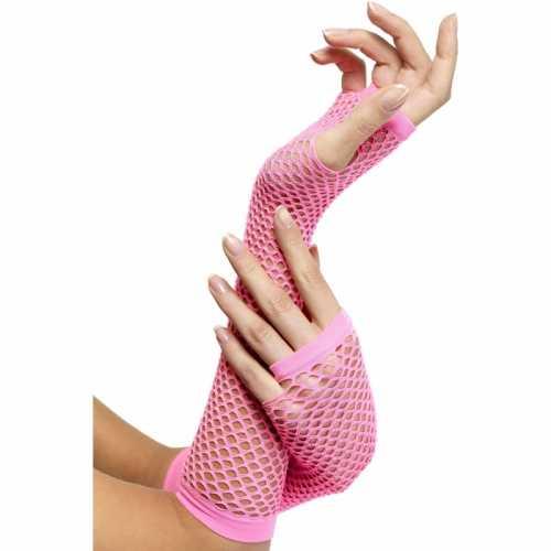 Handschoen visnet roze
