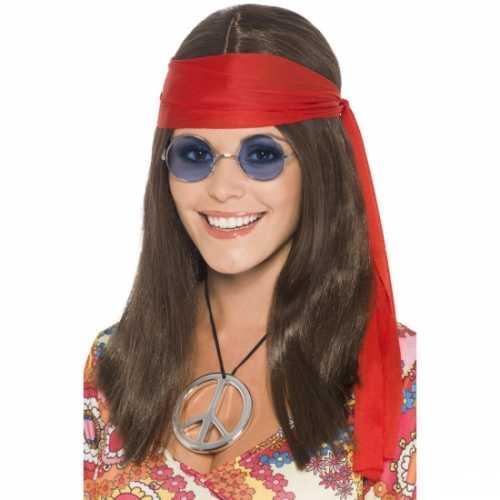 Hippie setje pruik dames