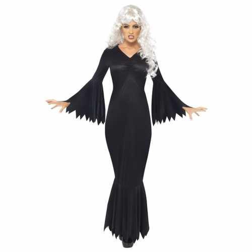 Horror/halloween jurk zwart dames