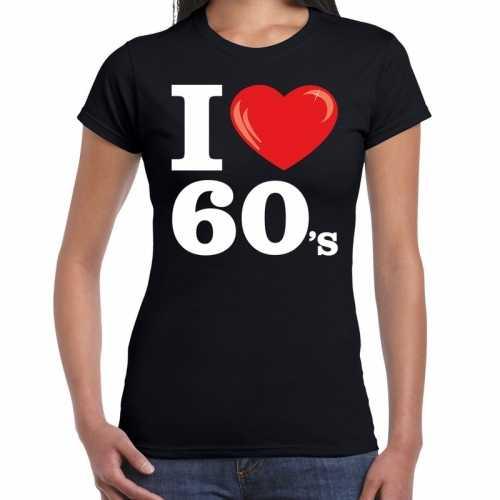 I love shirts dames zwart 60s bedrukking