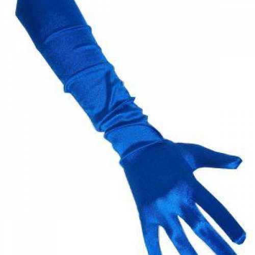 Lange handschoenen blauw 48