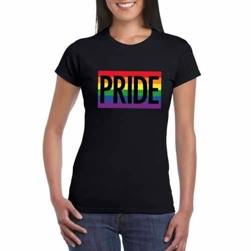 Lesbo shirt pride regenboog vlag dames zwart