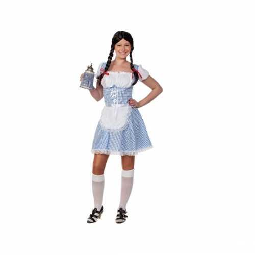 Lichtblauw Beiers dames jurkje