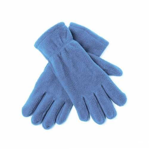 Lichtblauwe fleece handschoenen mannen dames