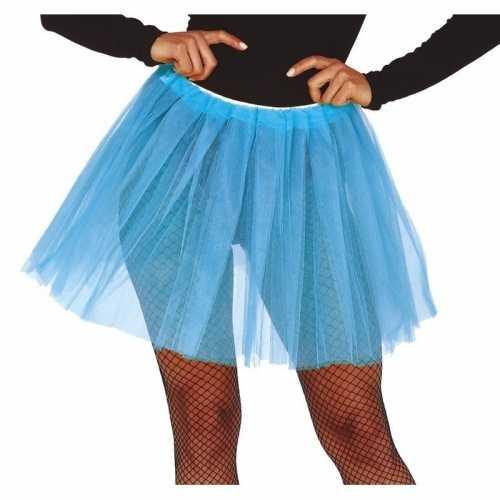 Lichtblauwe verkleed petticoat dames 40