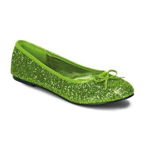 Lime groene ballerina schoenen glitters