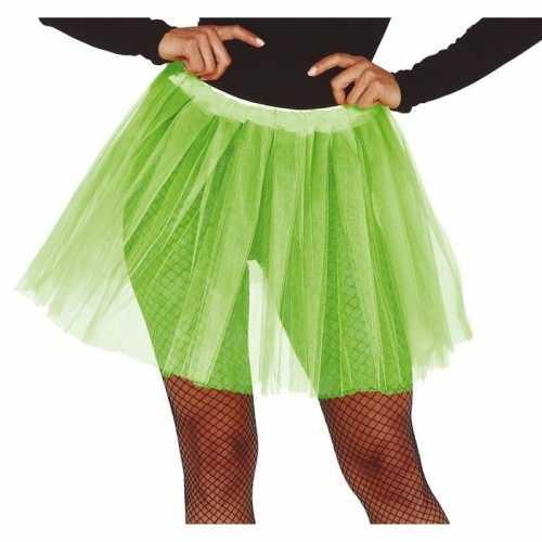 Lime groene verkleed petticoat dames 40