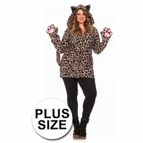 Luipaard jurk luipaardprint grote maten