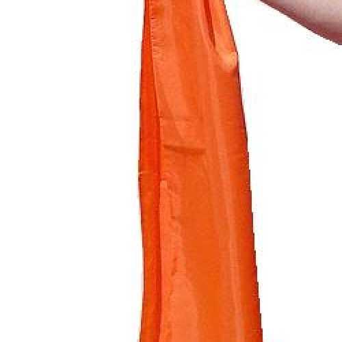 Luxe oranje dames sjaal 140
