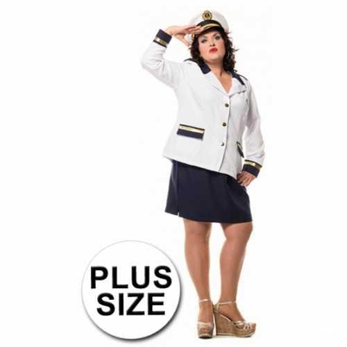 Marine dames colbert rok in grote maat