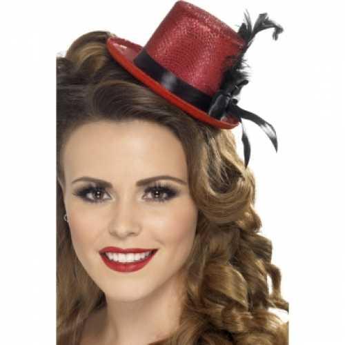 Mini hoog hoedje rood