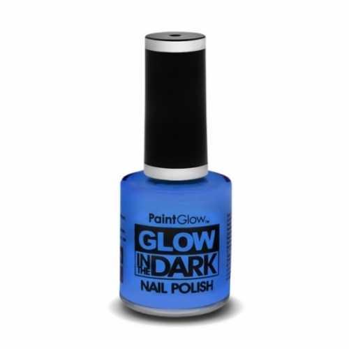 Neon blauwe nagellak lichtgevend