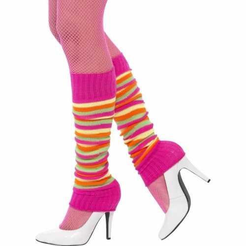 Neon gekleurde beenwarmers dames