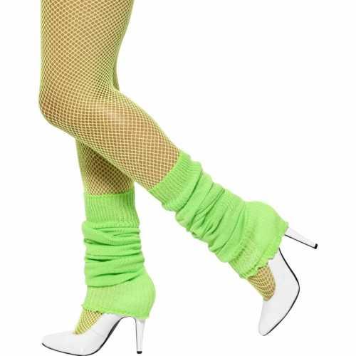 Neon groen gekleurde beenwarmers