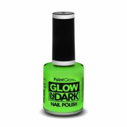 Neon groene nagellak lichtgevend