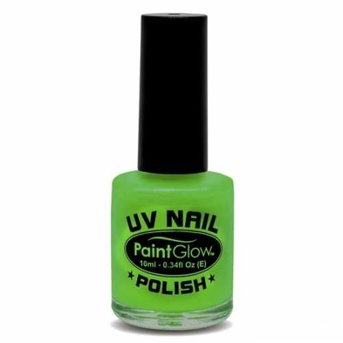 Neon groene nagellak oplichtend