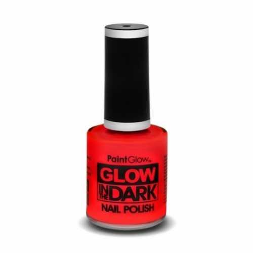 Neon rode nagellak lichtgevend
