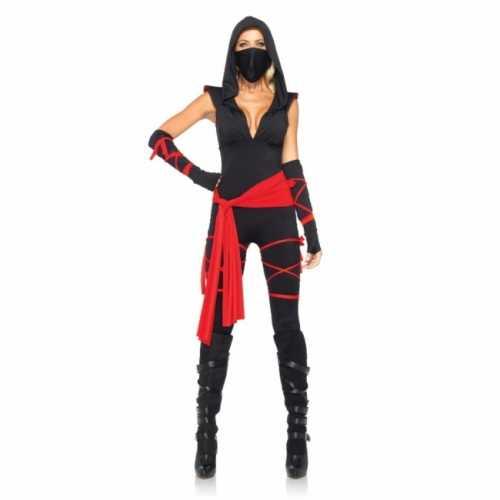 Ninja dames verkleedkleding 5 delig